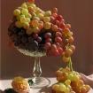 Больше винограда в праздничной фруктовой вазе!