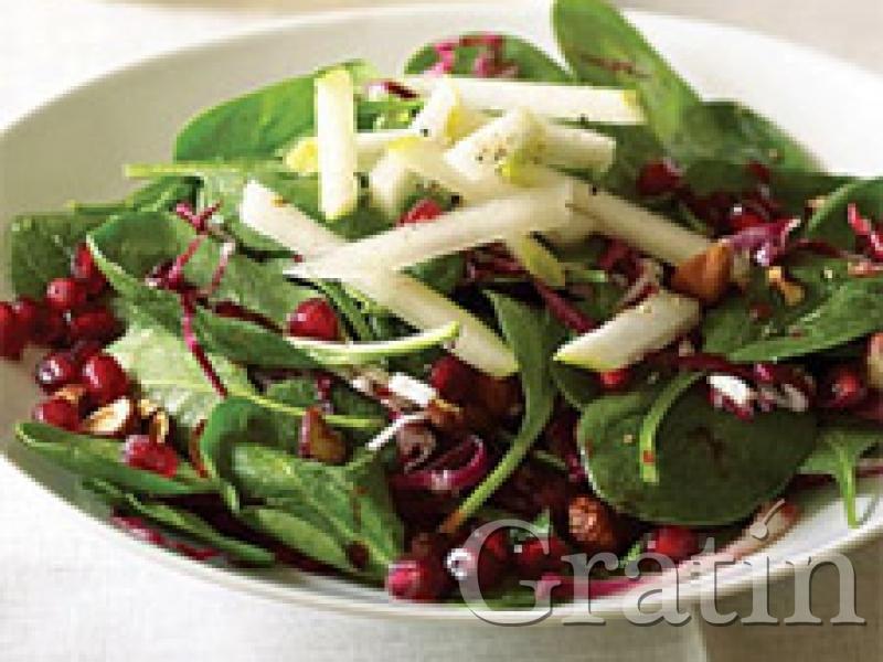 салат с гранатовыми зёрнами рецепт
