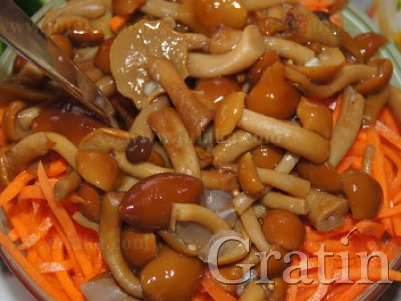 Салат корейская морковь с грибами рецепт пошагово 99
