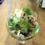 Салат с жареным камамбером