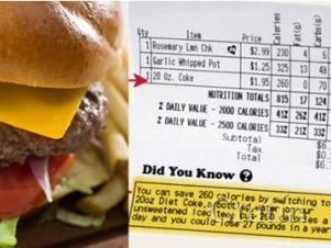 В США применяют чеки со «здоровой информацией»