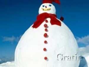 Снеговик из зефира – целых шесть метров!