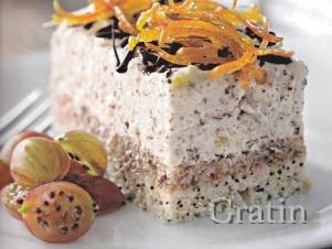 Творожный десерт с крыжовником