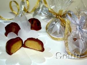Шоколадные конфеты с миндальной помадкой