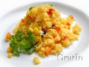 Рис с арахисом и овощами
