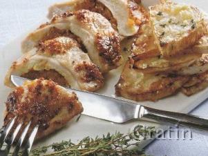 Фаршированные куриные грудки с сельдереем