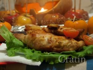 Курица карри, запёченная с ананасами