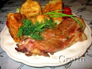 Шейные свиные стейки