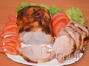 Запечённая свинина в маринаде