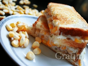 Горячий сэндвич «Золотая мозаика»