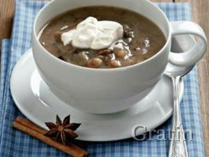 Хлебный суп с сухофруктами