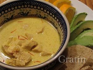 Чесночный суп-крем с шафраном
