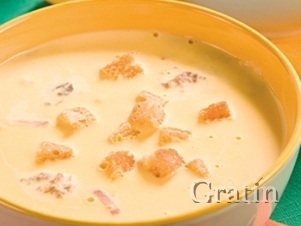 Сырный крем-суп с томатом