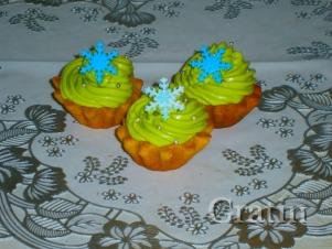 Апельсиновые кексы «Снежинка»
