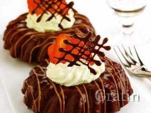 Кофейные кольца в шоколаде