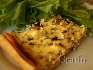 Французский киш из козьего сыра