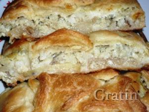 Пирог с салакой и картофелем