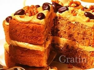 Кофейно-ореховый торт