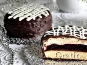 Шоколадно-вишнёвое пирожное «Фламинго»