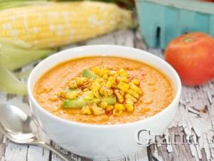 Томатно-молочный суп с кукурузой