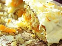 Кокосовый торт с курагой