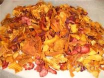 Фруктовые чипсы из плодовой массы