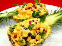 Десерт «Праздничный ананас»