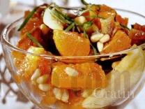 Салат с финиками и мандаринами