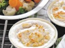 Суфле из кролика с овощами на пару