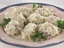 Клёцки из картофеля с грибами