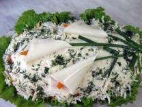 Слоёный салат «Каллы»