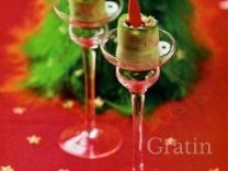 Рулетики «Новогодние свечи»
