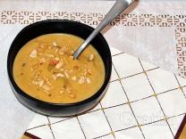 Молочный суп с арахисовым маслом