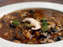 Грибной суп с вином