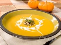 Тыквенный суп с миндалём