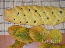 Хлеб-косичка с начинкой из чернослива