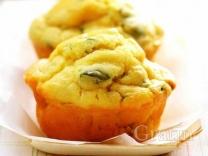 Сырные маффины с зеленью