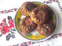 Творожные кексы с бананом и маком