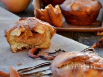 Яблочные маффины с варёной сгущёнкой