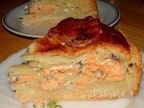 Пасхальный картофельный пирог с рыбой