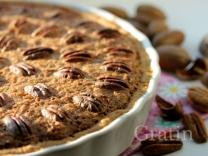 Сметанный пирог с пеканом