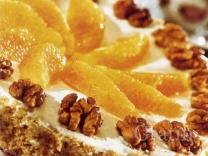 Мандариново-ореховый торт