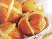 Сдобные крестовые булочки